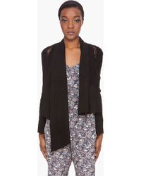Haute Hippie Black Lace Suede Jacket - Lyst