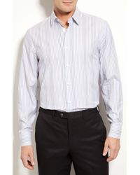 Calibrate Trim Fit Stripe Sport Shirt - Lyst