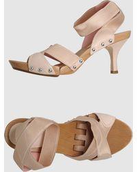 Donna Karan - Platform Sandals - Lyst
