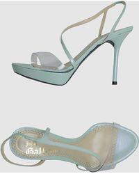 John Galliano Platform Sandals - Lyst