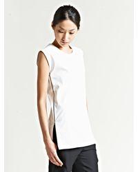 Maison Margiela 1 Womens Side Zip Oversized Top - Lyst