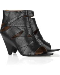 Belle By Sigerson Morrison Cutout Leather Ankle Boots - Lyst