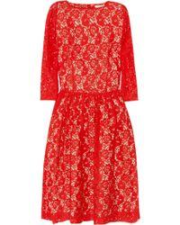 Helene Berman Lace Mini Dress - Lyst