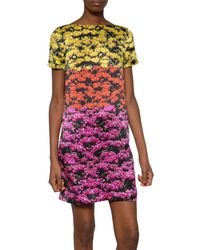 Mary Katrantzou Silk Satin Printed Dress - Lyst