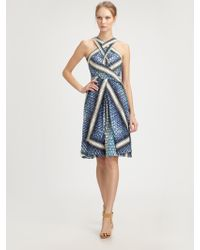 Peter Pilotto Silk Dress - Lyst