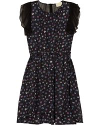 Girl by Band of Outsiders - Capucine Chiffon-trimmed Printed Silk Dress - Lyst