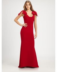 Notte by Marchesa Silk Bow Gown - Lyst