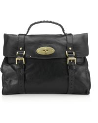 Mulberry Oversized Black Alexa Bag - Lyst