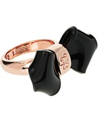 Ted Baker Acrylic Folded Bow Ring - Lyst