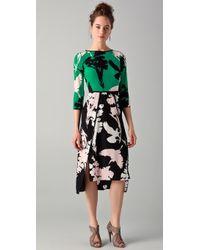 Tibi jasmine printed strapless maxi dress