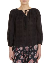 Etoile Isabel Marant Embroidered V-neck Blouse - Lyst
