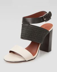 Elizabeth And James Block Ankle-strap Sandal - Lyst