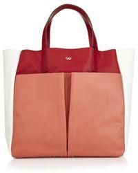 Anya Hindmarch Nevis Raw Leather Shopper - Lyst