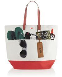 Anya Hindmarch Beach Canvas Tote Bag - Lyst
