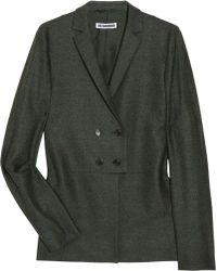 Jil Sander Asymmetric Woven Jacket - Lyst