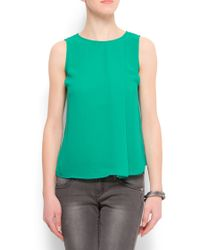 Mango Sheer Top - Lyst