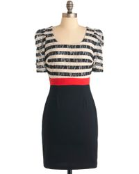 ModCloth Stripe Place, Stripe Time Dress - Lyst