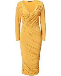 Donna Karan New York Butterscotch Twist Drape Dress - Lyst