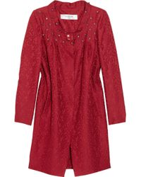 Valentino Roma | Crystal-embellished Wool-blend Brocade Coat Dress | Lyst