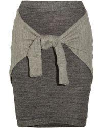 3.1 Phillip Lim Tie-front Cotton-jersey Skirt - Lyst