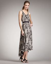 Halston Heritage Printed Belted Dress - Lyst