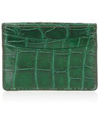 Zagliani - Crocodile Credit Card Holder - Lyst