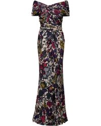 Elie Saab Off-shoulder Print Gown - Lyst