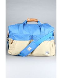 Herschel Supply Co. The Walton Duffle Bag in Khaki & Cobalt - Lyst
