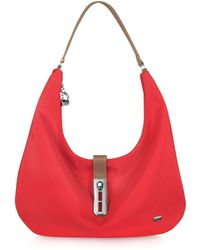 La Bagagerie - Fabric and Leather Hobo - Lyst