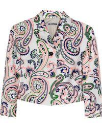 Jil Sander Le Chatelier Paisley-print Cotton-poplin Jacket pink - Lyst
