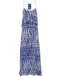 Thakoon Addition - Tie Dye-print Tiered Silk Dress - Lyst