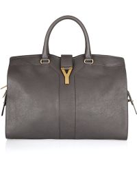 Saint Laurent Large Cabas Chyc Leather Tote - Lyst