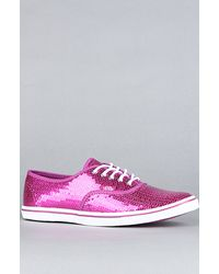 Vans The Authentic Lo Pro Sneaker in Pink Sequins - Lyst