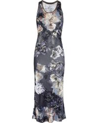 Aminaka Wilmont Floral-print Satin-jersey and Silk Dress - Lyst