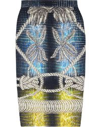 Peter Pilotto Printed Stretch-jersey Pencil Skirt - Lyst