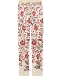 Clements Ribeiro | Printed Silk Skinny Pants | Lyst