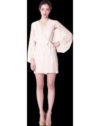 Erin Fetherston Cape Sleeve Wrap Dress - Lyst