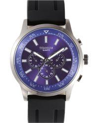 Titanium Chronograph Rubber Band Watch - Lyst