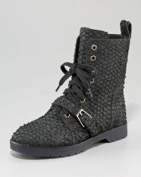 Alexander Wang Daria Parrot Combat Boots - Lyst