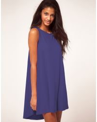 ASOS Collection - Asos Mini Swing Dress with Dipped Hem - Lyst