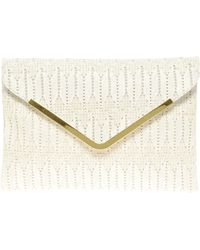ASOS Collection Asos Weave Metal Bar Clutch - Lyst