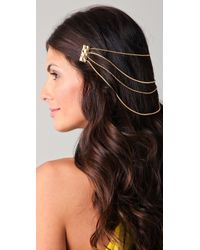 Belle Noel Molten Gold Hair Chain - Lyst
