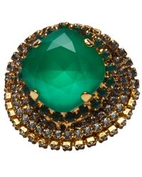 Erickson Beamon Bette Davis Eyes Ring - Lyst