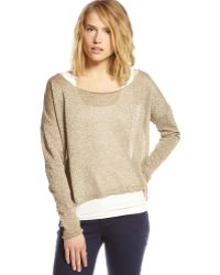 Graham & Spencer - Slouchy Shimmer Sweater - Lyst
