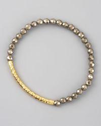 Tai - Pyrite Beaded Stretch Bracelet - Lyst
