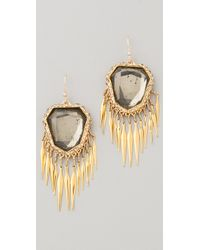 Alexis Bittar Crystal Encrusted Fringe Earrings - Lyst