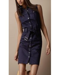 Burberry Brit - Heritage Trench Shirt Dress - Lyst