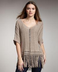 Graham & Spencer - Fringe-trim Sweater - Lyst