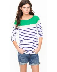J.Crew Cashmere Boatneck Sweater in Colorblock - Lyst