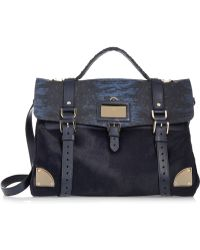 Mulberry Lizard-print Leather and Calf Hair Shoulder Bag - Lyst